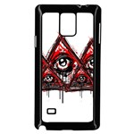 Red White pyramids Samsung Galaxy Note 4 Case (Black) Front