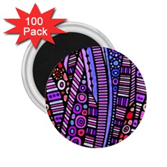 Stained Glass Tribal Pattern 2 25  Button Magnet (100 Pack) by KirstenStar