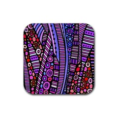 Stained Glass Tribal Pattern Drink Coaster (square) by KirstenStar