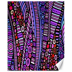 Stained Glass Tribal Pattern Canvas 16  X 20  (unframed) by KirstenStar