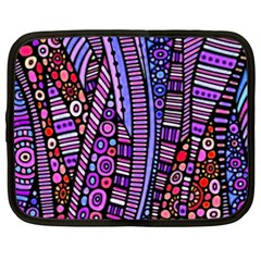 Stained Glass Tribal Pattern Netbook Sleeve (large) by KirstenStar