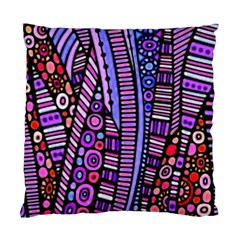 Stained Glass Tribal Pattern Cushion Case (two Sided)  by KirstenStar