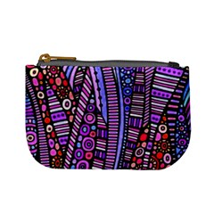 Stained Glass Tribal Pattern Coin Change Purse