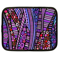 Stained Glass Tribal Pattern Netbook Sleeve (xxl) by KirstenStar