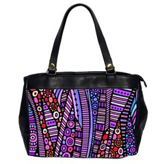 Stained Glass Tribal Pattern Oversize Office Handbag (two Sides) by KirstenStar