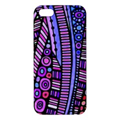 Stained Glass Tribal Pattern Apple Iphone 5 Premium Hardshell Case by KirstenStar