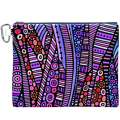 Stained glass tribal pattern Canvas Cosmetic Bag (XXXL) by KirstenStar