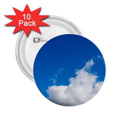 Bright Blue Sky 2 2.25  Button (10 pack) by ansteybeta