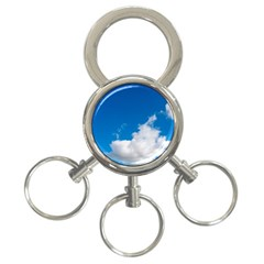 Bright Blue Sky 2 3 Ring Key Chain by ansteybeta