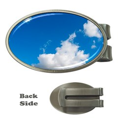 Bright Blue Sky 2 Money Clip (oval) by ansteybeta