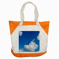 Bright Blue Sky 2 Accent Tote Bag by ansteybeta