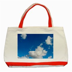 Bright Blue Sky 2 Classic Tote Bag (red) by ansteybeta