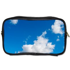 Bright Blue Sky 2 Travel Toiletry Bag (one Side) by ansteybeta