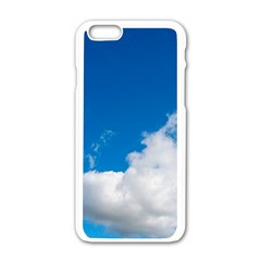 Bright Blue Sky 2 Apple Iphone 6 White Enamel Case by ansteybeta