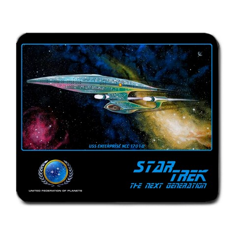 Star Trek Next Generation Mouse Pad By Scott Vater   Large Mousepad   4podsllfr44e   Www Artscow Com Front