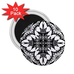 Doodle Cross  2 25  Button Magnet (10 Pack) by KirstenStar