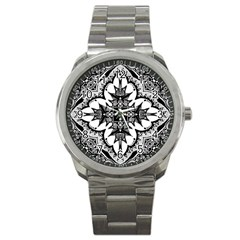 Doodle Cross  Sport Metal Watch by KirstenStar
