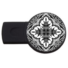 Doodle Cross  4gb Usb Flash Drive (round)