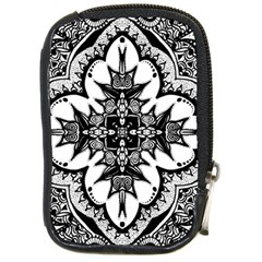 Doodle Cross  Compact Camera Leather Case by KirstenStar