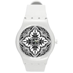 Doodle Cross  Plastic Sport Watch (medium) by KirstenStar