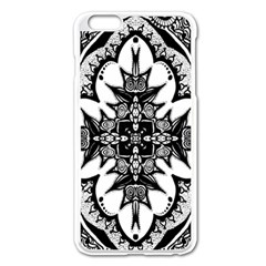 Doodle Cross  Apple iPhone 6 Plus Enamel White Case by KirstenStar
