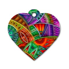 Happy Tribe Dog Tag Heart (one Sided)  by KirstenStar