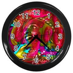 Music Festival Wall Clock (black) by icarusismartdesigns