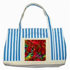 Music Festival Blue Striped Tote Bag by icarusismartdesigns