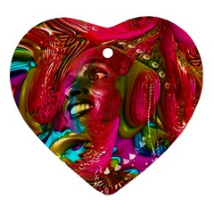 Music Festival Heart Ornament (two Sides) by icarusismartdesigns