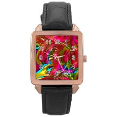 Music Festival Rose Gold Leather Watch  by icarusismartdesigns