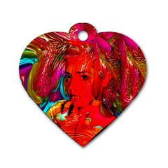 Mardi Gras Dog Tag Heart (one Sided)  by icarusismartdesigns
