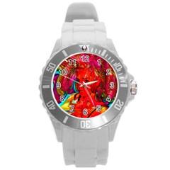 Mardi Gras Plastic Sport Watch (large) by icarusismartdesigns