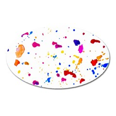 Multicolor Splatter Abstract Print Magnet (oval) by dflcprints