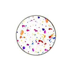 Multicolor Splatter Abstract Print Golf Ball Marker 4 Pack (for Hat Clip) by dflcprints