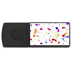 Multicolor Splatter Abstract Print 4gb Usb Flash Drive (rectangle) by dflcprints