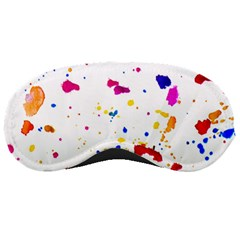 Multicolor Splatter Abstract Print Sleeping Mask by dflcprints