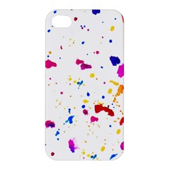 Multicolor Splatter Abstract Print Apple Iphone 4/4s Premium Hardshell Case by dflcprints