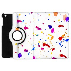 Multicolor Splatter Abstract Print Apple Ipad Mini Flip 360 Case by dflcprints