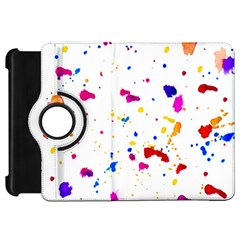 Multicolor Splatter Abstract Print Kindle Fire Hd Flip 360 Case by dflcprints