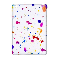 Multicolor Splatter Abstract Print Apple Ipad Mini Hardshell Case (compatible With Smart Cover) by dflcprints