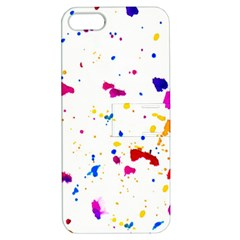 Multicolor Splatter Abstract Print Apple Iphone 5 Hardshell Case With Stand by dflcprints