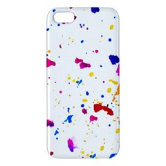 Multicolor Splatter Abstract Print Iphone 5s Premium Hardshell Case by dflcprints
