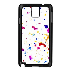 Multicolor Splatter Abstract Print Samsung Galaxy Note 3 N9005 Case (black) by dflcprints
