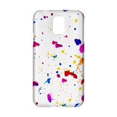 Multicolor Splatter Abstract Print Samsung Galaxy S5 Hardshell Case  by dflcprints