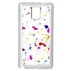 Multicolor Splatter Abstract Print Samsung Galaxy Note 4 Case (white) by dflcprints