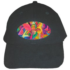 Colorful Floral Abstract Painting Black Baseball Cap by KirstenStar