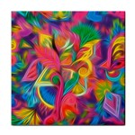 Colorful Floral Abstract Painting Ceramic Tile