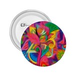 Colorful Floral Abstract Painting 2.25  Button