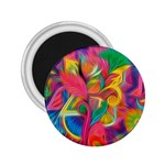 Colorful Floral Abstract Painting 2.25  Button Magnet