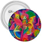 Colorful Floral Abstract Painting 3  Button